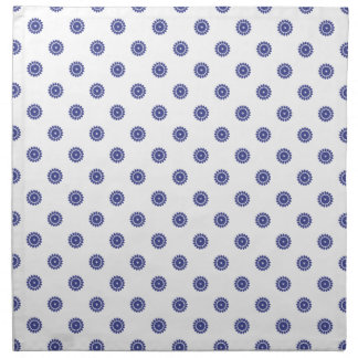 Azul real del estampado de plores 4 servilleta imprimida