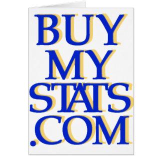 azul real del logotipo de BuyMyStats.com 3D con la Tarjeta De Felicitación