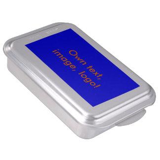 Azul real del molde para pasteles