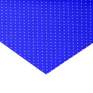 Azul real del papel seda con los puntos blancos papel de seda pequeño