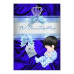 Azul real del pequeño muchacho del príncipe fiesta invitación personalizada