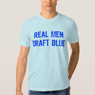Azul real del proyecto de los hombres remera