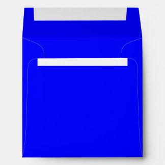 Azul real del sobre cuadrado