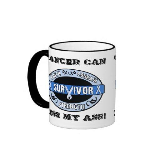 Azul real del superviviente adaptable del cáncer taza de dos colores