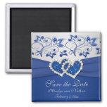Azul real e imán del favor de la bodas de plata