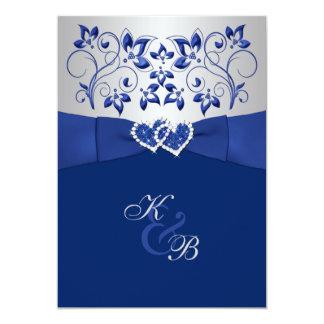 Azul real e invitación unida plata 2 de los