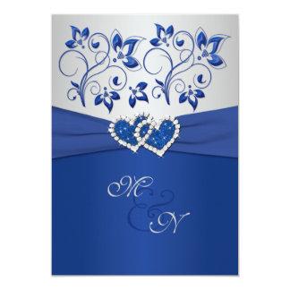 Azul real e invitación unida plata de los