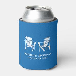 Azul real el | de las sillas de playa de enfriador de latas