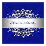 Azul real en la 50.a fiesta de cumpleaños de la invitaciones personales