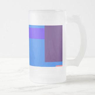 Azul real minimalista taza de cristal