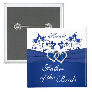 Azul real, padre floral blanco del Pin de la novia