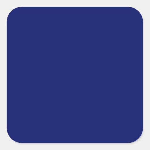 Azul real pegatina cuadrada