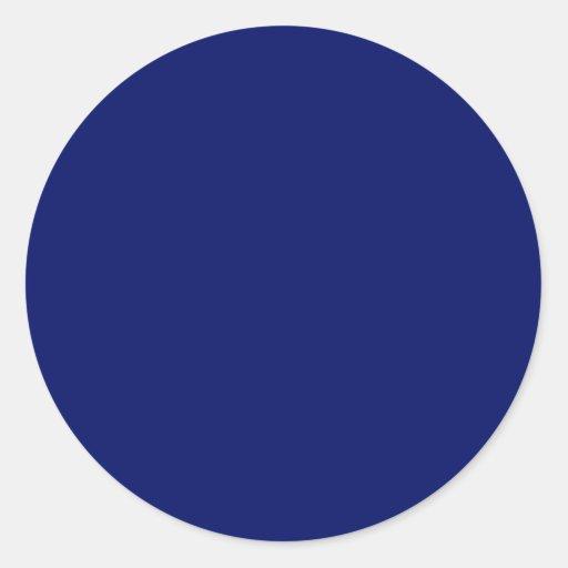 Azul real pegatina redonda