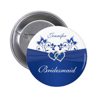 Azul real, Pin floral blanco de la dama de honor Pin Redondo 5 Cm