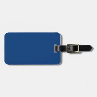 Azul real profundo etiquetas de maletas