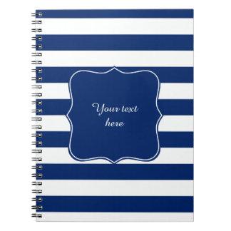 Azul real rayado spiral notebook