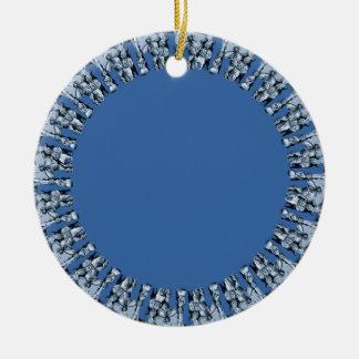 Azul real redondo adornos de navidad