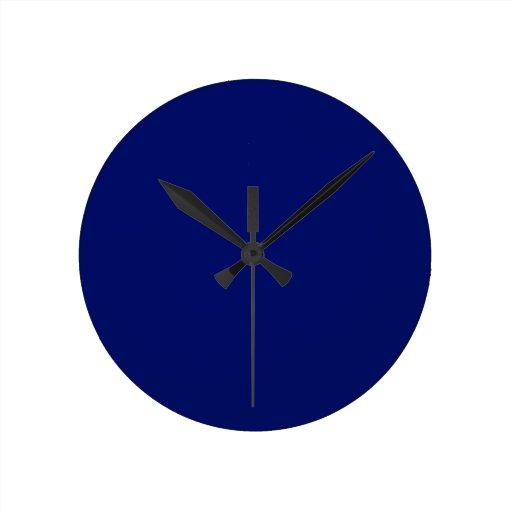 Azul real reloj de pared