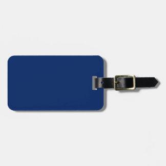 Azul real sólido etiquetas de maletas