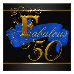 Azul real y fiesta de cumpleaños fabulosa del oro  anuncios