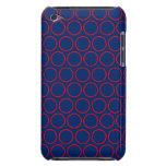 Azul real y lunares huecos rojos Case-Mate iPod touch cárcasa