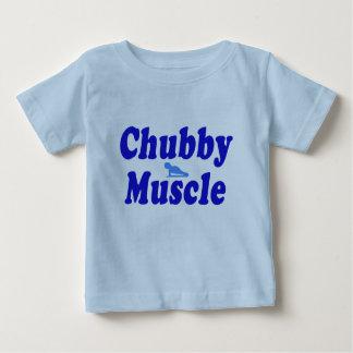azul rechoncho del músculo poleras