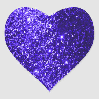 Azul reluciente pegatina en forma de corazón