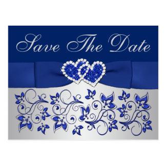 Azul, reserva floral de los gris plateados la tarjetas postales