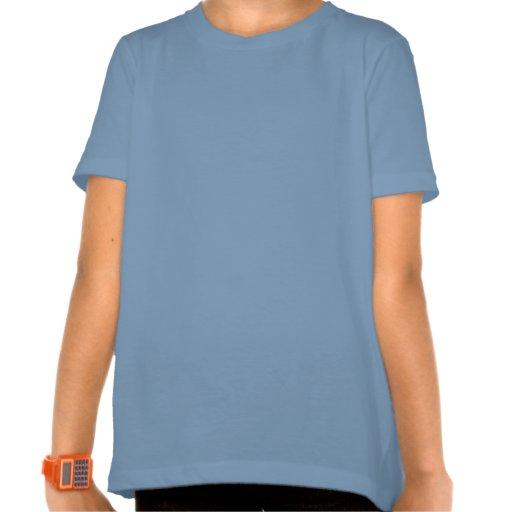 Azul retro 2 de las flores de la hermana grande camisetas