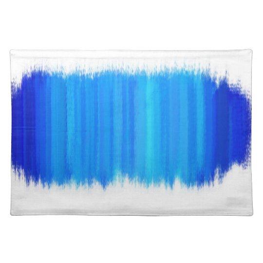 Azul retro abstracto 5 de la pintura el   manteles