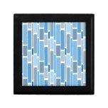 azul retro caja de joyas