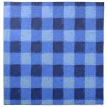 Azul retro de la guinga servilleta de papel