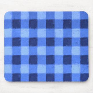 Azul retro de la guinga tapetes de raton