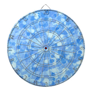 Azul retro del chapoteo tabla dardos