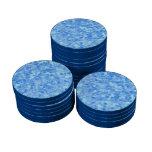 Azul retro del chapoteo fichas de póquer