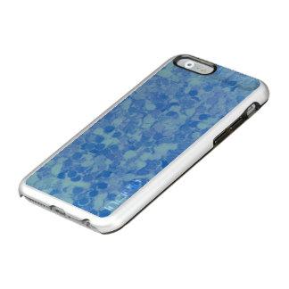 Azul retro del chapoteo funda para iPhone 6 plus incipio feather shine