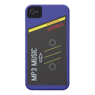 AZUL retro del reproductor de casete iPhone 4 Carcasas