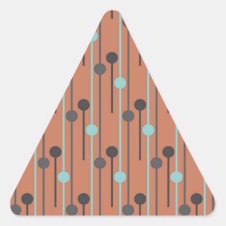 azul retro en los palillos de swizzle de color pegatina triangular