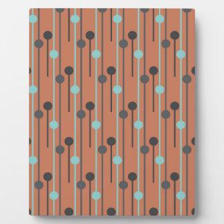 azul retro en los palillos de swizzle de color placas de plastico