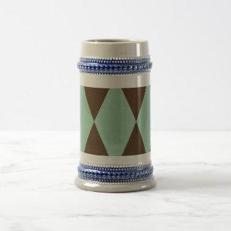 Azul retro jarra de cerveza