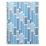 azul retro libretas espirales