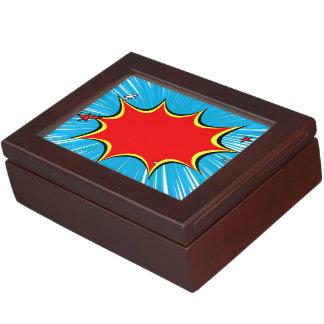Azul retro y el rojo protagoniza la explosión cajas de recuerdos