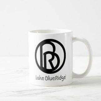 Azul Ridge del lago Taza Básica Blanca