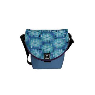 Azul Rociada-él bolso del día del estampado de Bolsa Messenger