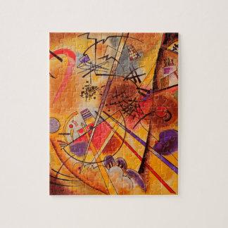 Azul rojo amarillo de Kandinsky Brown Puzzles