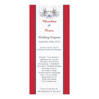 azul rojo BG Ribb de la paloma del blanco del prog Lonas Personalizadas