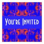 azul rojo brillante invitación 13,3 cm x 13,3cm