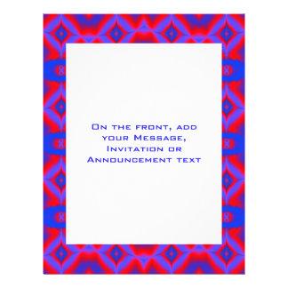 azul rojo brillante tarjetas publicitarias