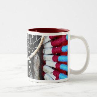 Azul rojo de nativo americano del colector hermoso tazas