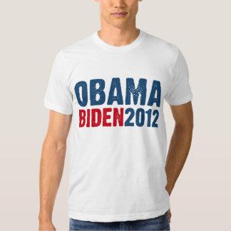 Azul/rojo de Obama Biden Polera